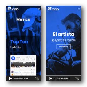 Diseño web radio online premium 50% Avance